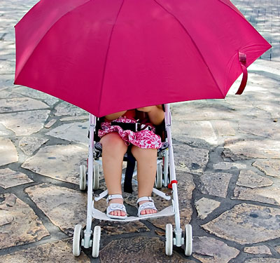 Stroller Umbrella, Stroller Parasols, Stroller Sunshade, Clip On